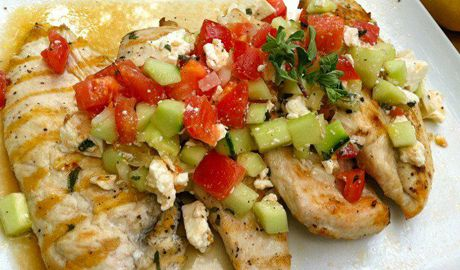 http://eat.ac/GreekStyleChicken Fire up the grill this Summer with the healthy Greek Style Chicken Breasts recipe by Hope Cohen