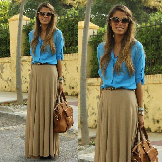 Camisa + saia longa