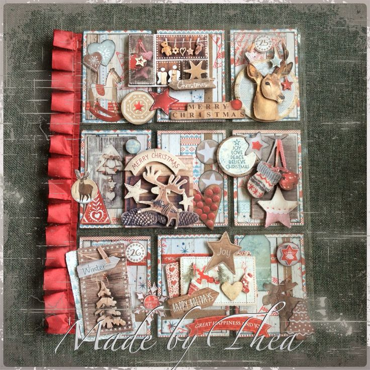 Christmas pocket letter with StudioLight papers