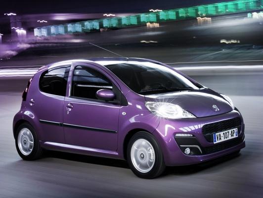 Peugeot 107 purple