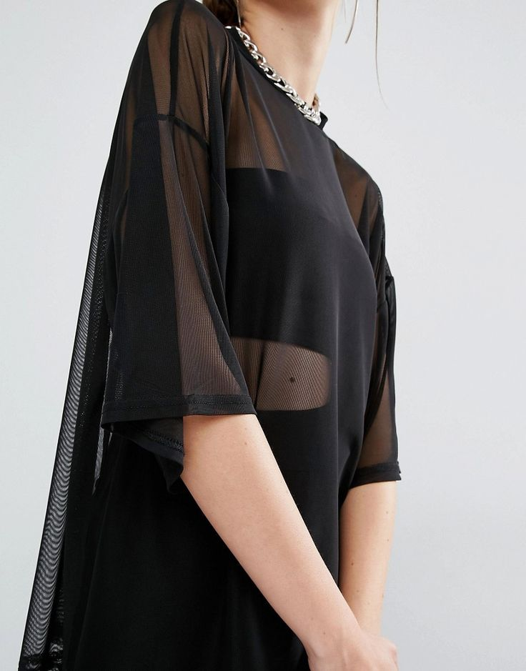 Tulle Sheer Blouse