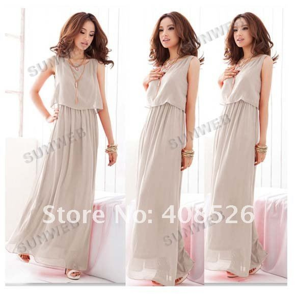 2012 New Women Bohenmia  Pleated Wave Lace Strap Princess Chiffon Maxi long dress Four Colors Hot Sell  FREE SHIPPING 3694