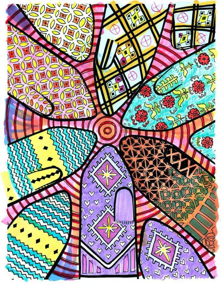 Latvian Mitten Fever! In A COLORING BOOK FOR KNITTERS.