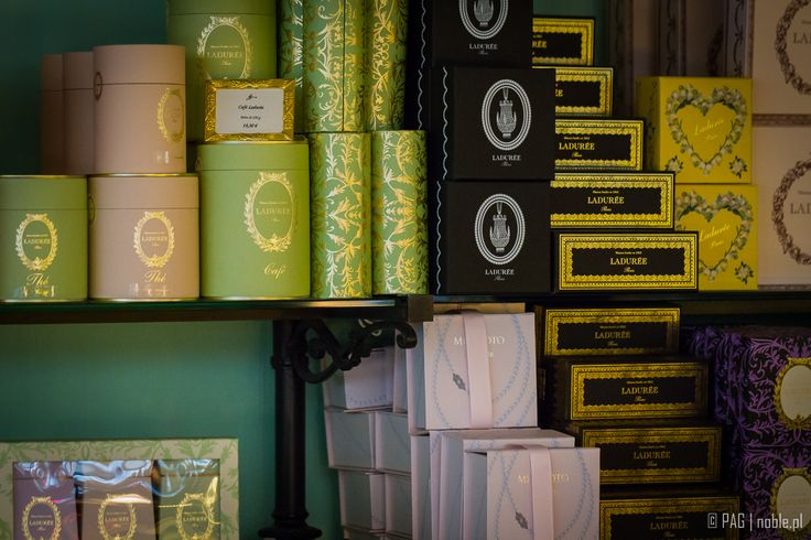 Ladurée, a famous french confectionery - a shot from the shop in Paris, France