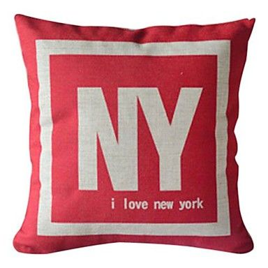 Love New York Cotton/Linen Decorative Pillow Cover – CAD $ 13.42