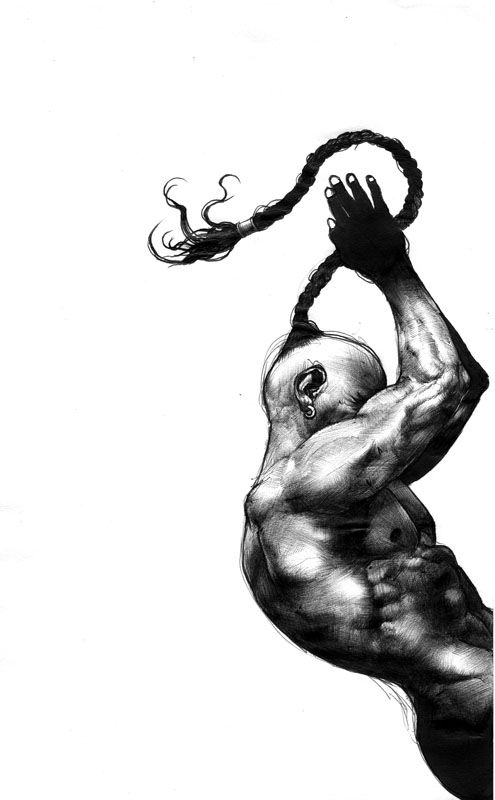 A fined work 'RAGE' from Japan illustrator, SHOHEI.