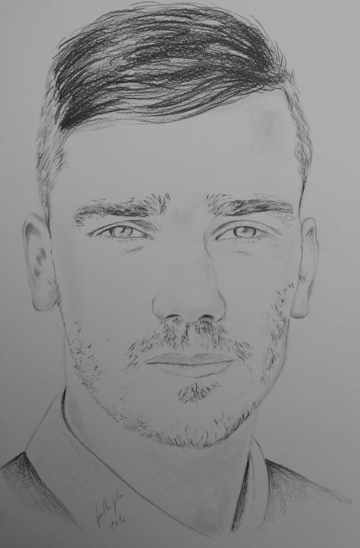 Antoine Griezmann. Portrait au fusain