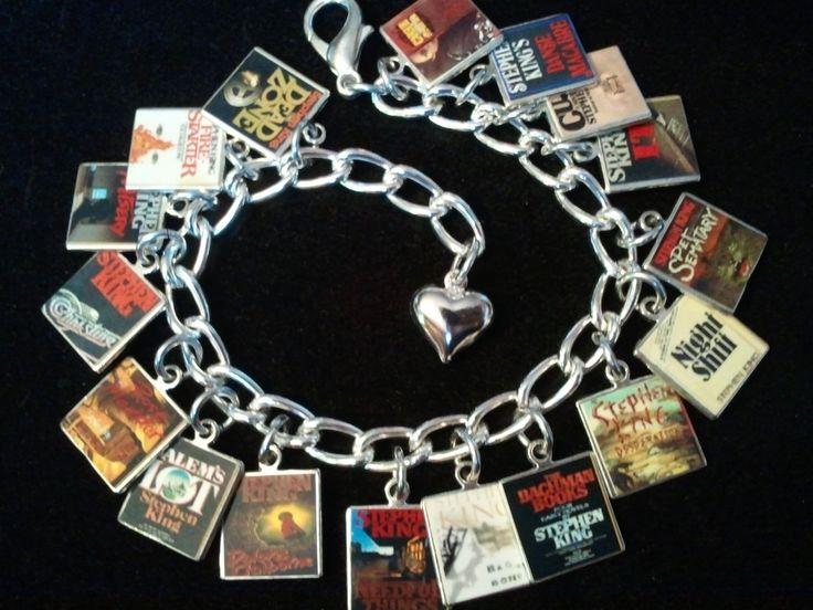 STEPHEN KING Book Charm Bracelet 17 Classic Stephen King Book Cover Charms http://www.bonanza.com/listings/141904927