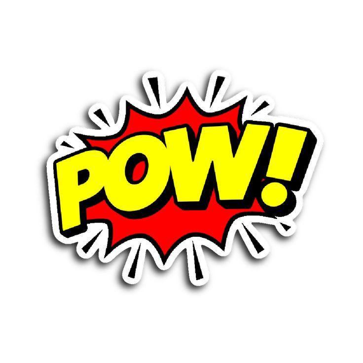 Comic Book Speech Balloon Stickers - Pow!