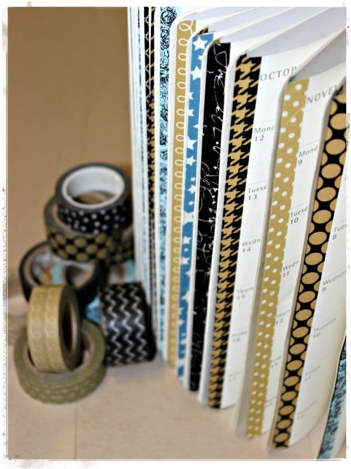 washi tape for visual organization help                                                                                                                                                                                 More