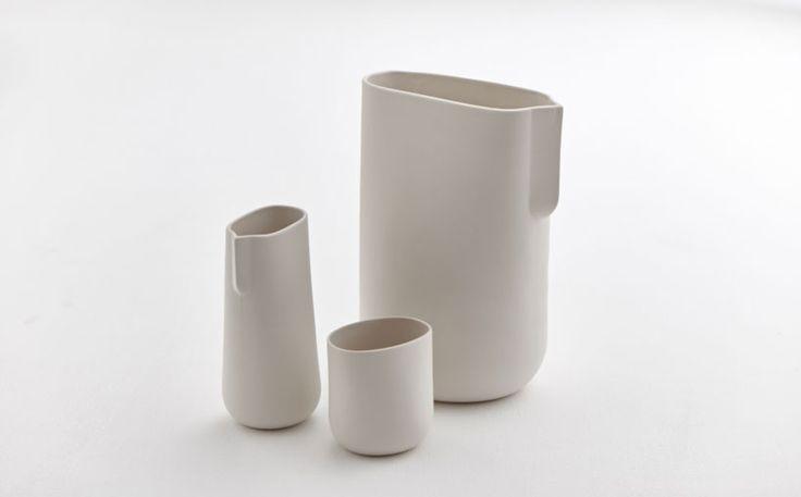 'duomorph', shira keret and itay laniado, slip cast porcelain, part of matter of fact exhibit exploring contemporary ceramics in israel