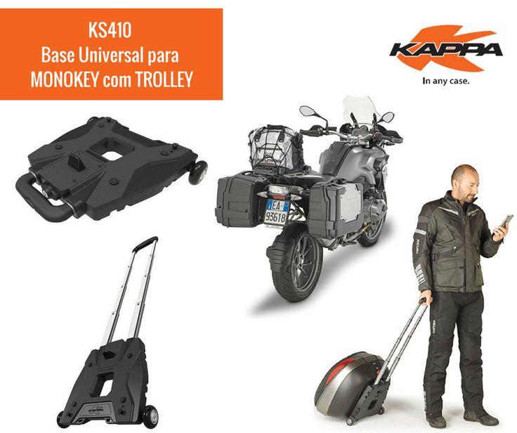 EM DESTAQUE | Novidade da KAPPA KS410 | Base Universal para Top Cases Monokey com Trolley Estamos muito entusiasmados em apresentar um novo produto inovador criado pela KAPPA, que assegurará conforto e funcionalidade adicionais para o uso do seu Top Case KAPPA. Está quase a chegar ao mercado português!  #lusomotos #kappa #kappamoto #estilodevida #topcase #monokey #trolley #K56N #KS410 #bloqueio #segurança #desempenho #qualidade #conforto #novidade #inovador #rodas #alça