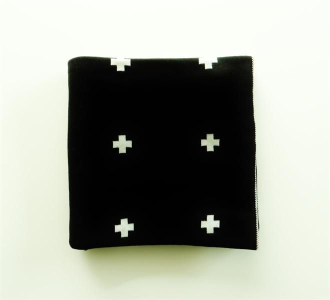 Cross Cot Blanket by Jamie Kay