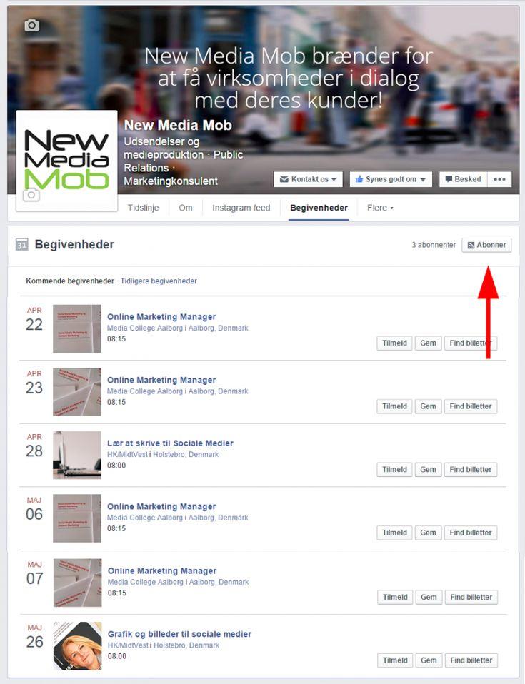 Sådan kommer du til at få besked, når de virksomheder, du følger på Facebook, har en interessant event i nærheden af dig.