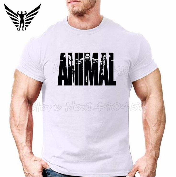 Muscle Guys Brand Animal Gyms Shirts Men Casual Mens T-Shirt Sportswear Bodybuilding Fitness Cotton Clothes Tracksuit Size XXL #Affiliate
