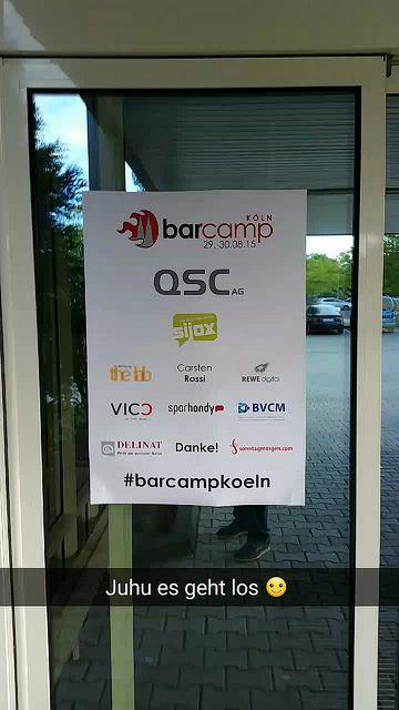 #Barcampkoeln 2015 #snapchat Geschichte | Flickr - Photo Sharing!