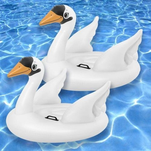 Giant Swan Inflatble Pool Floating Toy Pack Of 2 White Ride On Birds Water Raft  #Intex
