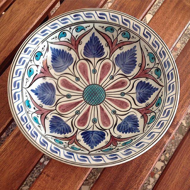 14.yy erken Osmanlı tabak (replika). #ibrahimkuşlu #frigseramik #çini #iznik #tabak #elyapımı #elboyama #sanat #elsanatları #dekorasyon #mutfak #tile #tileart #tiles #art #artwork #artmagazine #handmade #paintedtile #home #design #ceramics #ottomanart #seljuks #unique #instamag #instagram