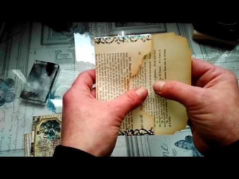 "Homemade ""Vintage"" ephemera, made with scraps and stamps - YouTube"