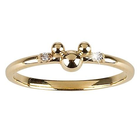 14-Kt. Gold and Diamond Mickey Mouse Ring from the Disney Dream Collection