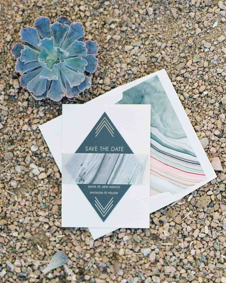 Colorful Marbled Save The Dates | Martha Stewart Weddings   This Couple Sent  Out. Invitation ...