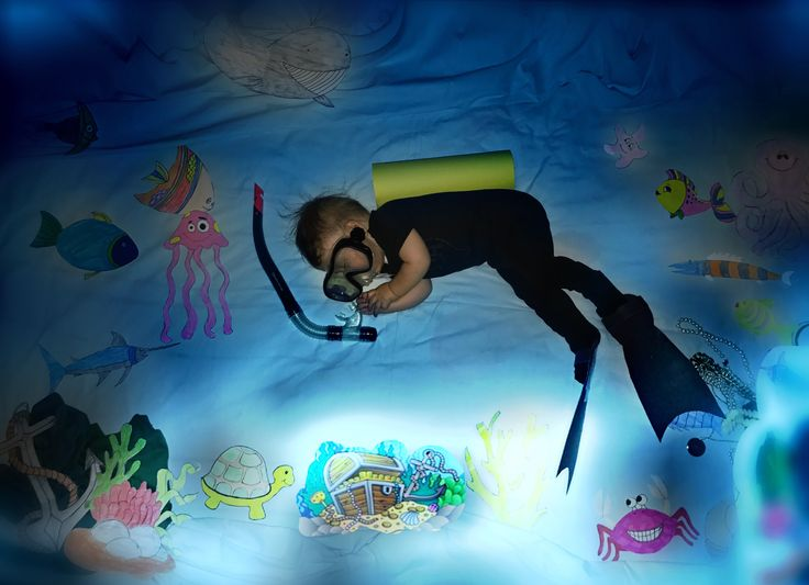 Bebek baby balık adam konsept fishman concept foto photo