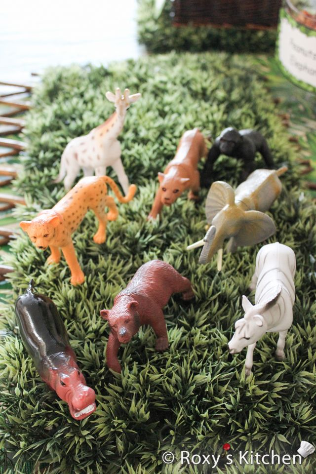 Safari / Jungle Themed First Birthday Party - Cheap Party Supplies & Decorations - Safari Toy Animals