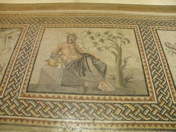 Nehir tanrıları Mozaiği