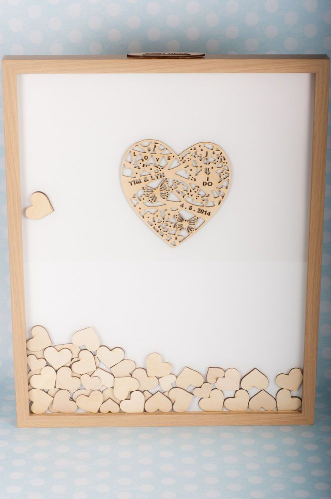 Drop Top Wedding Frame 100 Hearts
