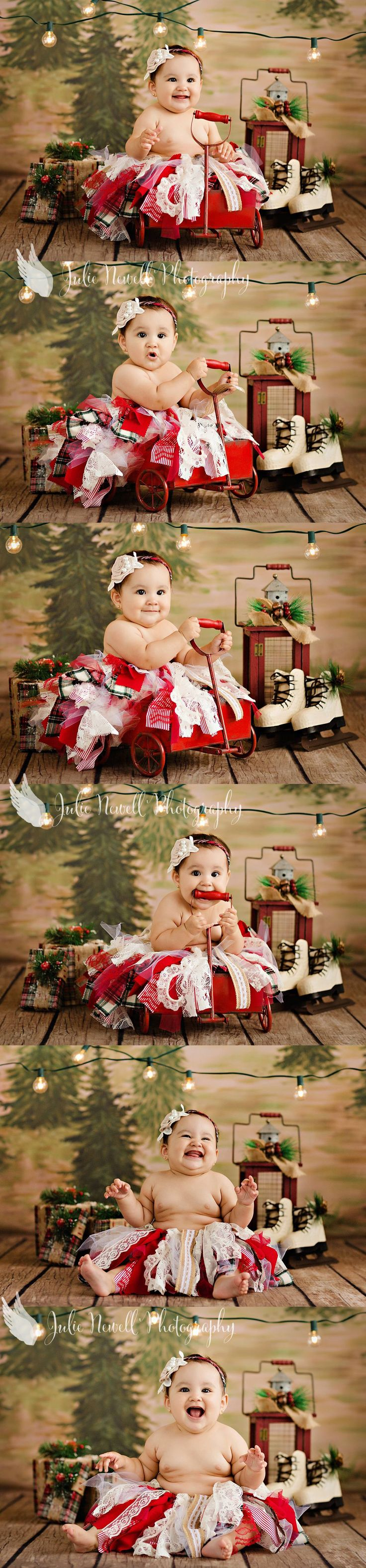 Oh sweetest girl, your Tia's Julie and Lizzie love you so much!! GracieBug was our little model on our rustic christmas set this year, how cute is she?!
