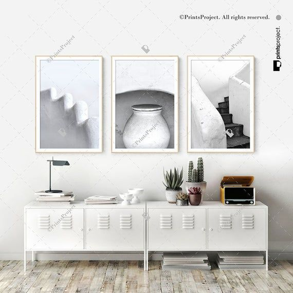 Set of 3 Architecture Prints, Black and White Photography, Above Couch Decor, Minimalist Wall Art, Greek Posters