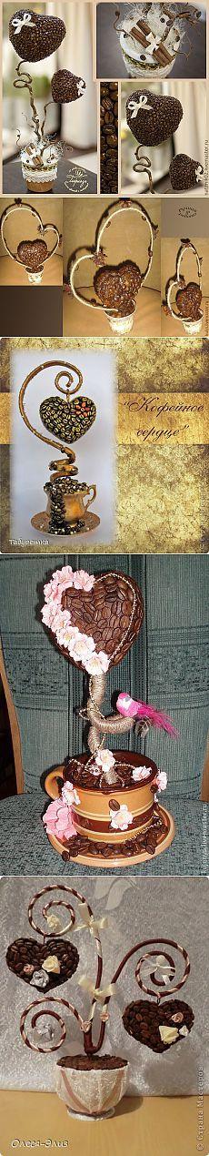 Кофейные топиарии-валентинки: много идей для вдохновения!