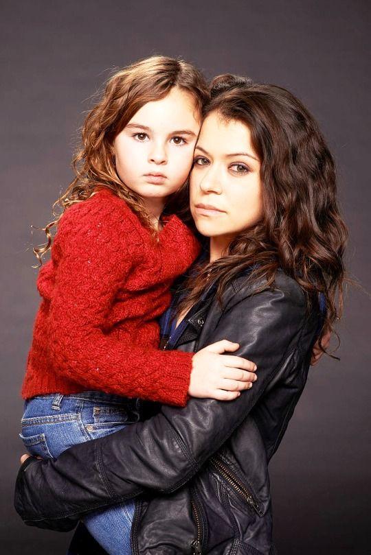 Orphan Black Promotional Photography: Tatiana Maslany and Skyler Wexler