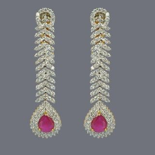 Featuring these Beautiful Zircon & Ruby Drops in our wide range of Earrings. Grab yourself one. Now!