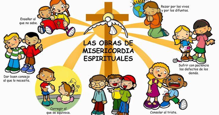 Dibujos para catequesis: LAS OBRAS DE MISERICORDIA ESPIRITUALES