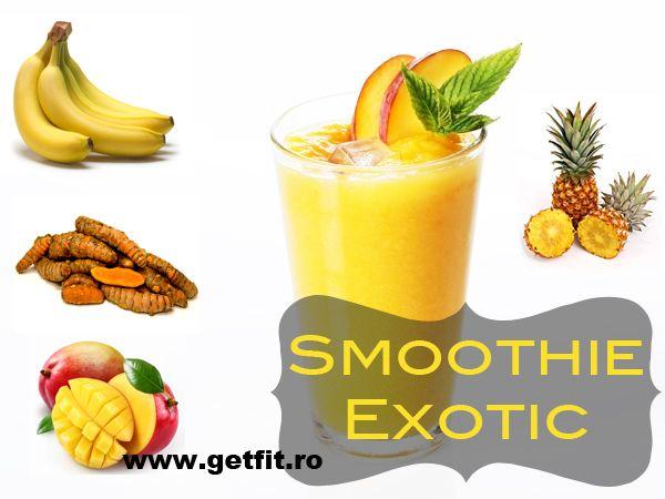 Smoothie exotic, cu ananas si turmeric | GetFIT