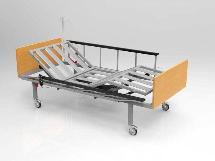 2 Motorlu Elektrikli Hasta Karyolası Ergonomik Korkuluklu 650,00 TL