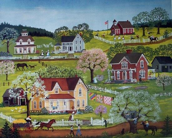 43 best Artist Mary Singleton images on Pinterest | Folk art ...