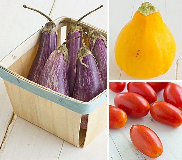 Grilled Veggie Salad With Basil Parmesan Polenta Recipes — Dishmaps
