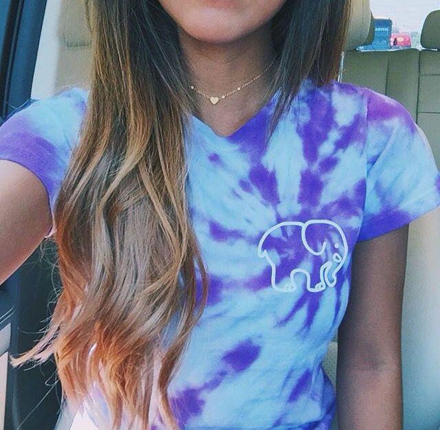 I love purple and ivoryella and tie dye