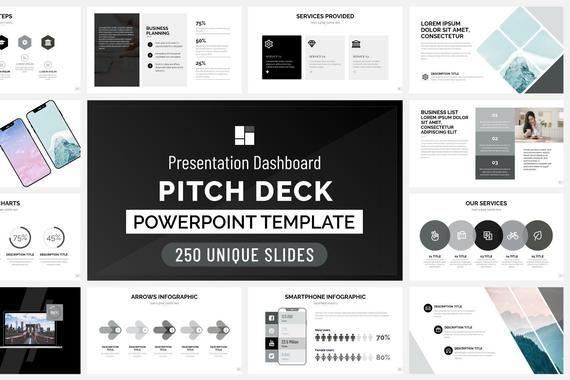 Pitch Deck Template Dashboard Geben Sie Sich Einen Schub Und Beginnen Sie Diese Vorlage Zu Verwend In 2020 Presentation Make An Infographic Pptx Templates