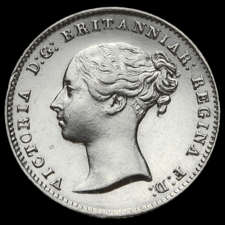 1838 Queen Victoria Young Head Silver Fourpence / Groat