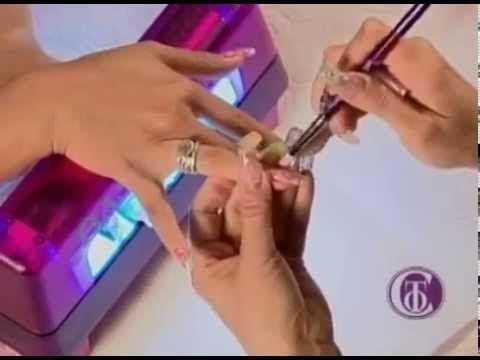 Como hacer uñas de gel paso a paso. Gel nails tutorial.