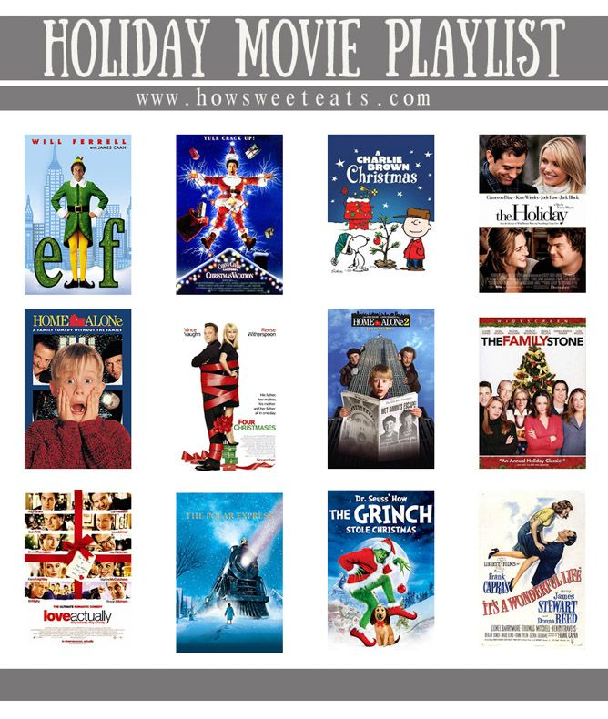 my favorite holiday movie playlist I howsweeteats.com