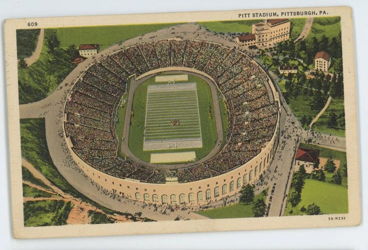Pitt Stadium, University of PITTSBURGH Panthers Football PA Allegheny Postcard