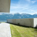 Gartenwohnung mit Bergblick #mountainview #nordkette #covetti #garden #concrete #fairfacedconcrete