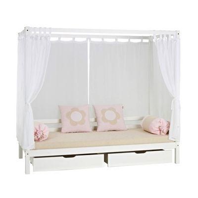 텐바이텐 10X10 : [까쁘레띠] 호페키즈(hoppekids) 화이트 캐노피 서랍 침대 세트
