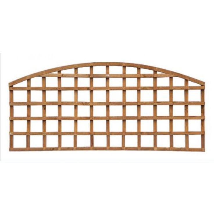 The Grange Dome Wooden Garden Trellis Panel  | Click4Garden
