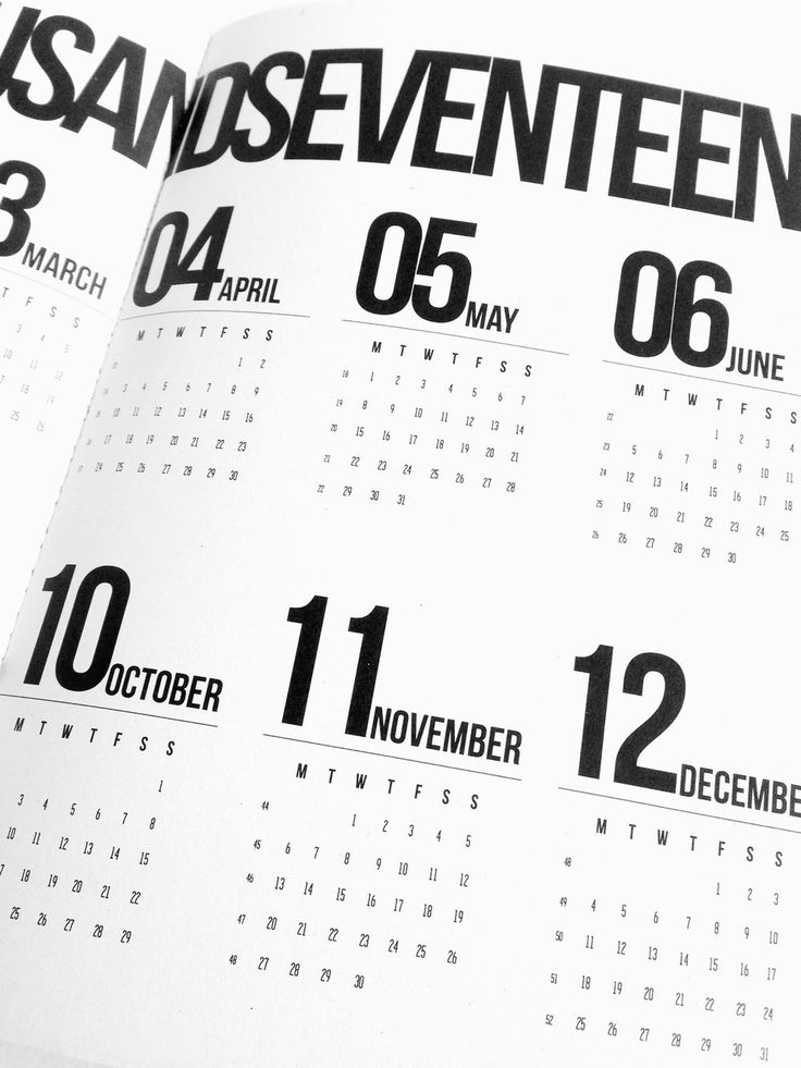 Inside the weekly calendar printed on 100% recycled paper - www.project-o.dk
