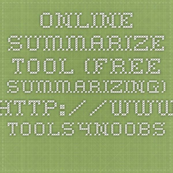 Online summarizing